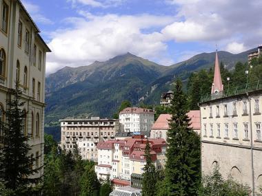 Gasteinské městečko Bad Gastein