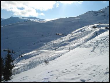 Oblast Gastein v zimě a sjezdovky